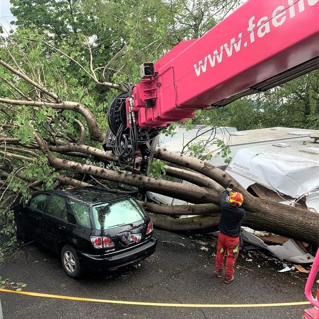 Unwetter hinterlassen grosse Schäden